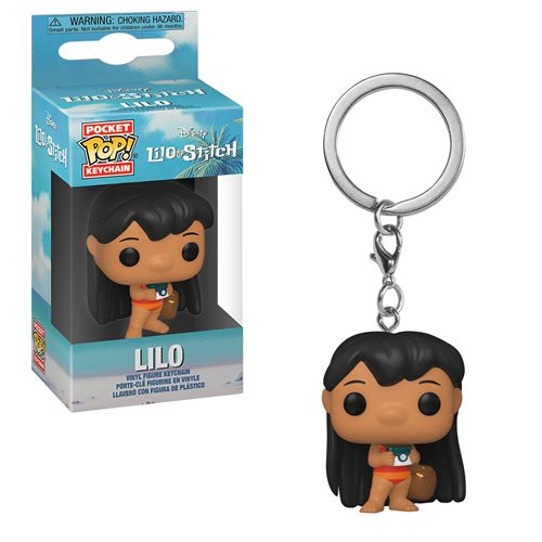 Lilo & Stitch Lilo with Camera Pocket Pop! Key Chain