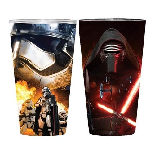 Star Wars: Episode VII - The Force Awakens Villain Poster Clear Full Wrap Pint Glass 2-Pack