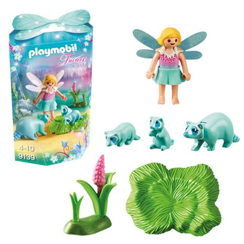 Playmobil 9139 Fairy Girl with Raccoons