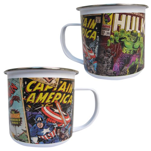 Marvel Comics Retro Collection Enamel 12 oz. Mug