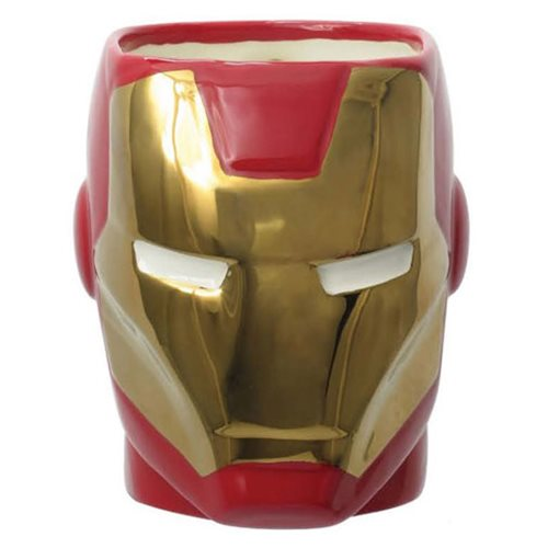 Iron Man Head Ceramic Molded Mug