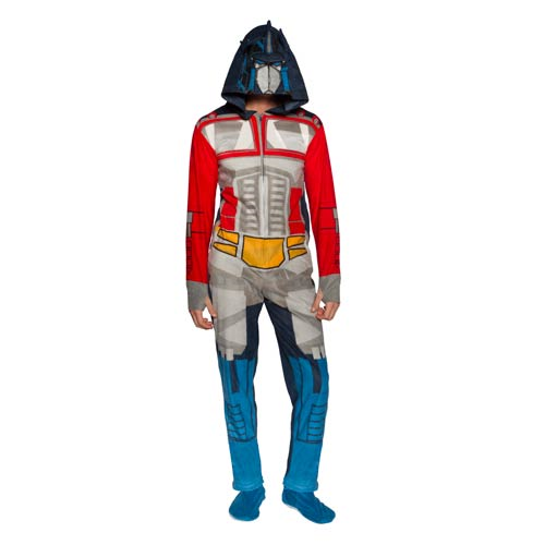 Transformers Optimus Prime Hooded Unisex Onesie with Thumb Holes and Removable Feet