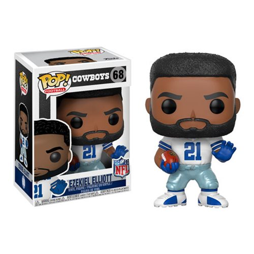 NFL Ezekiel Elliott Cowboys Home Wave 4 Pop! Vinyl Figure #68
