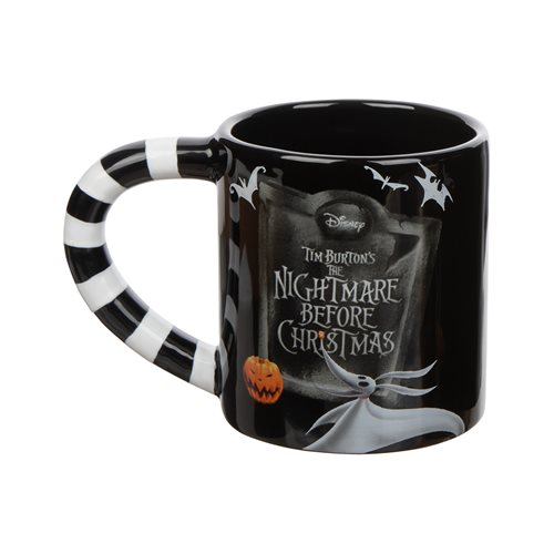 Nightmare Before Christmas Jack and Sally 20 oz. Sculpted Ceramic Mug 2-Pack