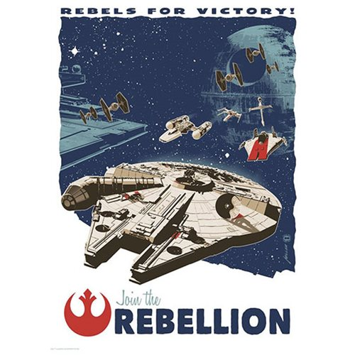 Star Wars Rebels for Victory by Brian Miller Silk Screen Art Print