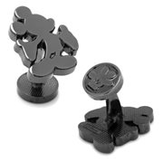 Mickey Mouse Silhouette Black Cufflinks