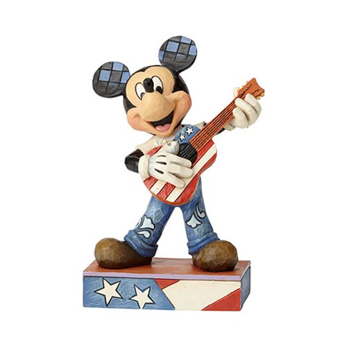Disney Traditions Americana Mickey Mouse American Anthem Statue by Jim Shore