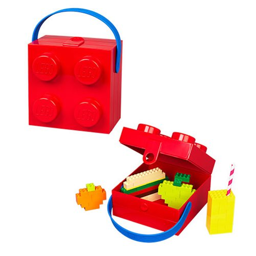 LEGO Bright Red Lunch Box with Blue Handle