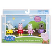 Peppa Pig Muddy Puddles Friends 4-Pack Figures