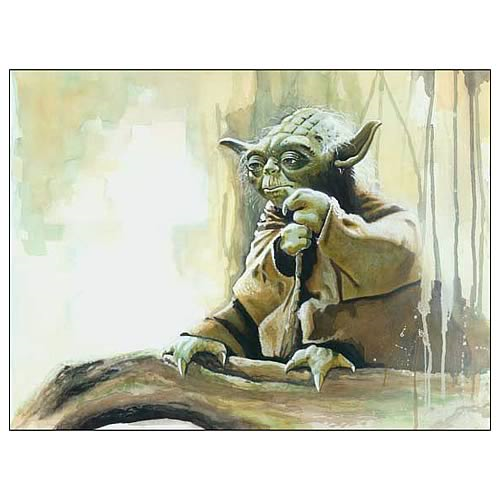 Star Wars Yoda Size Matters Not Paper Giclee Print