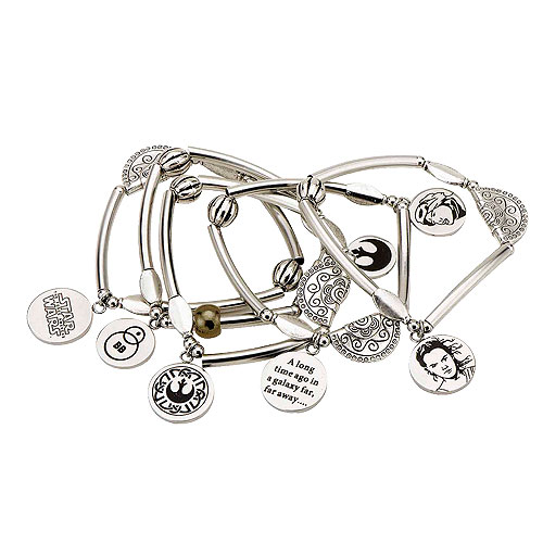 Star Wars: Episode VII - The Force Awakens Rey Stainless Steel Stretchable Charm Bracelet