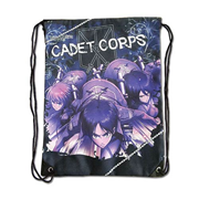 Attack on Titan Group Navy Blue Drawstring Bag
