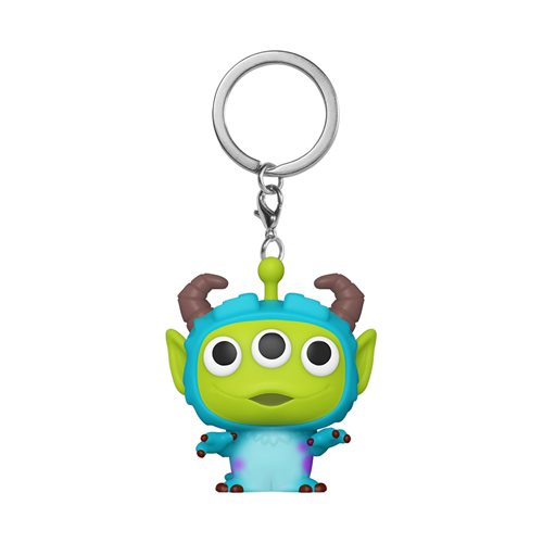 Pixar 25th Anniversary Alien Remix Sulley Pocket Pop! Key Chain