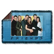 Friends Skyline Woven Tapestry Throw Blanket