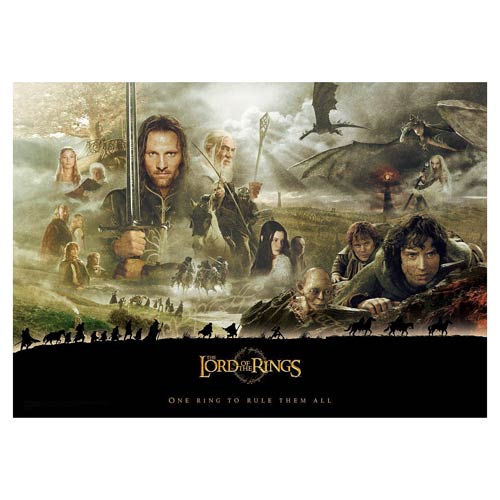 The Lord of the Rings Trilogy Journey MightyPrint Wall Art Print