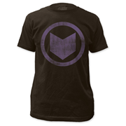 Hawkeye Distressed Icon Black T-Shirt