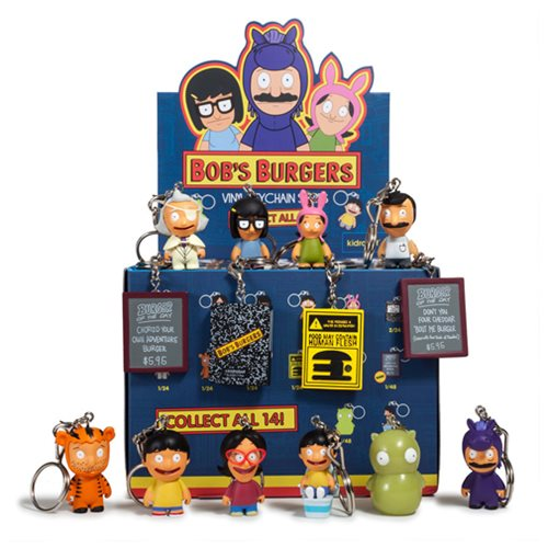 Bob's Burgers Mini-Figure Key Chains 4-Pack