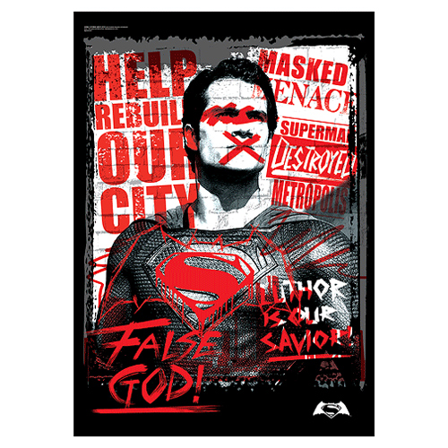 Batman v Superman: Dawn of Justice False God MightyPrint Wall Art Print