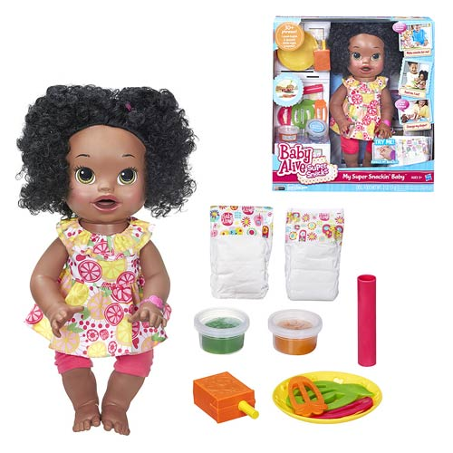 Baby Alive My Super Snackin Baby Doll (African-American), Not Mint