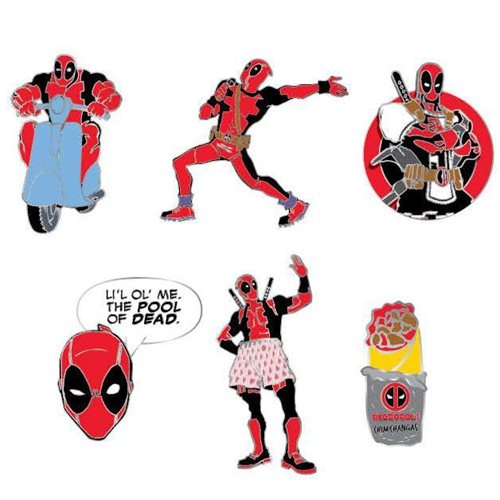 Deadpool Random Blind Box Enamel Pins 12-Piece Display Tray