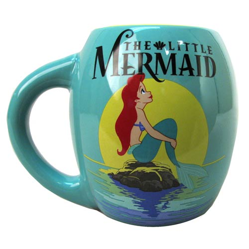 The Little Mermaid Green 18 oz. Ceramic Oval Mug