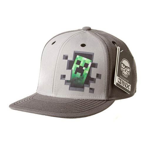 Minecraft Creeper Inside Premium Gray Snap-Back Hat