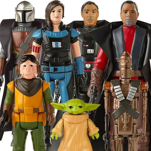 Star Wars The Mandalorian The Retro Collection Action Figures Wave 1 Case of 8