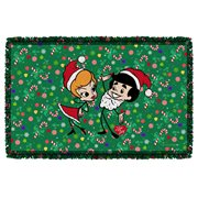 I Love Lucy Holiday Dance Woven Tapestry Throw Blanket