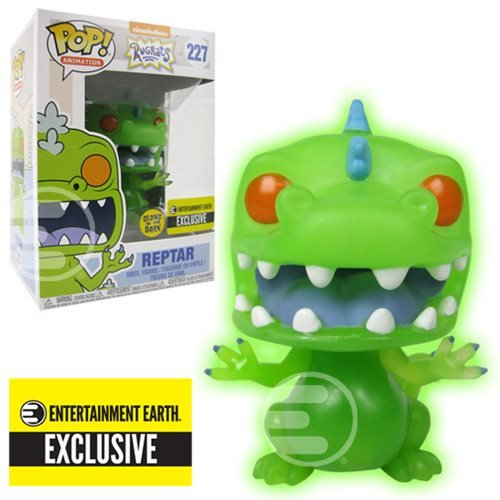 Rugrats Reptar Glow-in-the-Dark Pop! Vinyl Figure #227 - Entertainment Earth Exclusive, Not Mint
