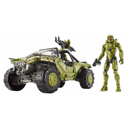 Halo Warthog Vehicle and Master Chief Action Figure Set