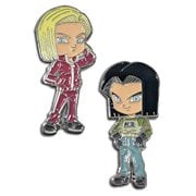 Dragon Ball Super Android 17 and Android 18 Enamel Pin Set