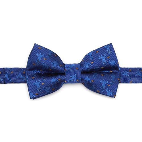 Aladdin Genie Scattered Blue Big Boy's Bow Tie