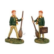 Harry Potter Village Fred and George Weasley Statue