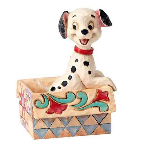 Disney Traditions 101 Dalmatians Lucky in a Box Mini Statue