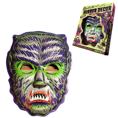 Ghoulville Midnight Man Wolf Vac-tastic Plastic Mask Wall Decor