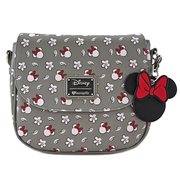 Minnie Mouse Gray Print Crossbody Purse