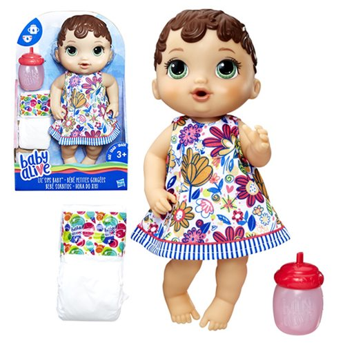 Baby Alive Lil' Sips Brunette Baby Doll