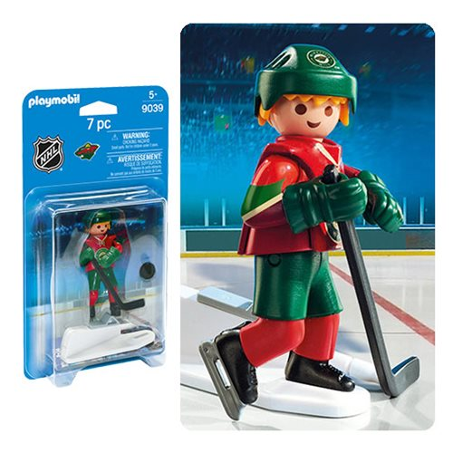 Playmobil 9039 NHL Minnesota Wild Player Action Figure