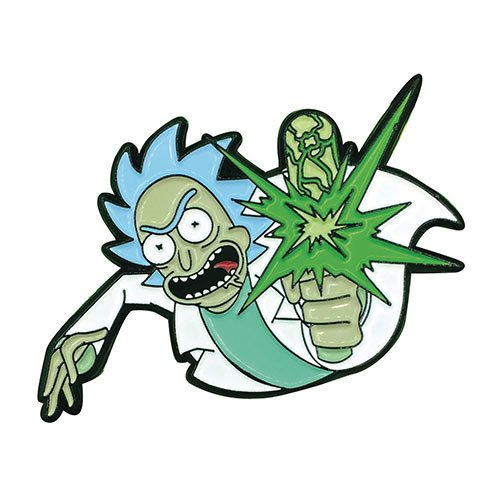Rick and Morty Point Blank Rick Soft Enamel Pin