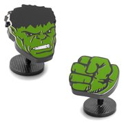 Hulk Comics Face and Fist Pair Cufflinks