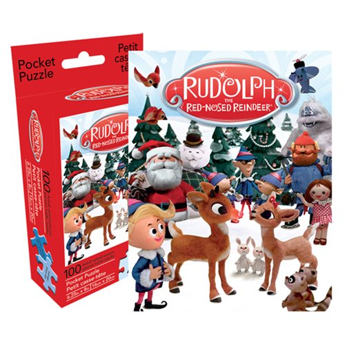 Rudolph the Red-Nosed Reindeer 100-Piece Pocket Puzzle