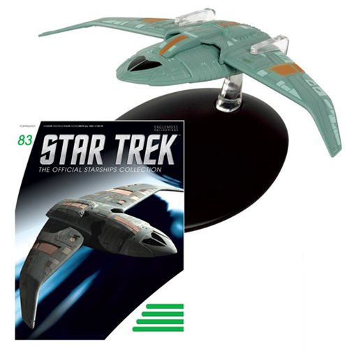 Star Trek Starships Bajoran Troop Transport Die-Cast Vehicle with Collector Magazine #83