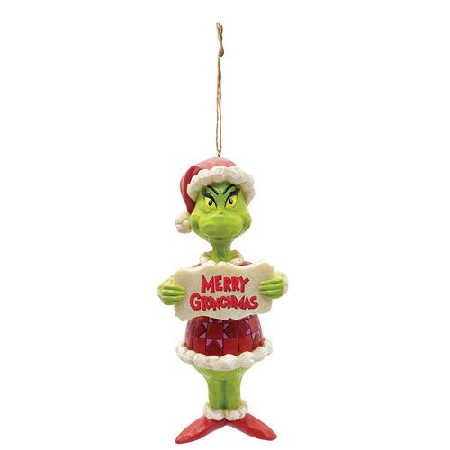Dr. Seuss The Grinch Grinch Merry Grinchmas by Jim Shore Holiday Ornament