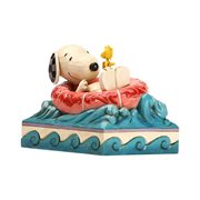 Peanuts Snoopy and Woodstock in Floatie Float Away by Jim Shore Statue