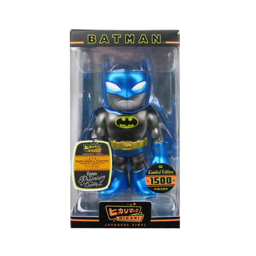Batman Black Glitter Blue Metallic Sofubi Hikari Vinyl Figure