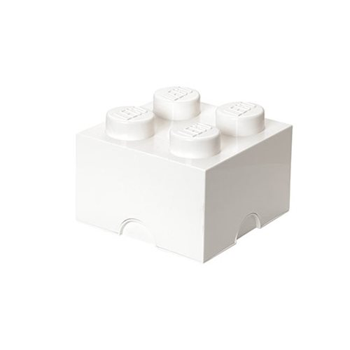 LEGO White Storage Brick 4