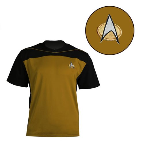 Star Trek: The Next Generation Shore Leave Collection Gold Uniform T-Shirt