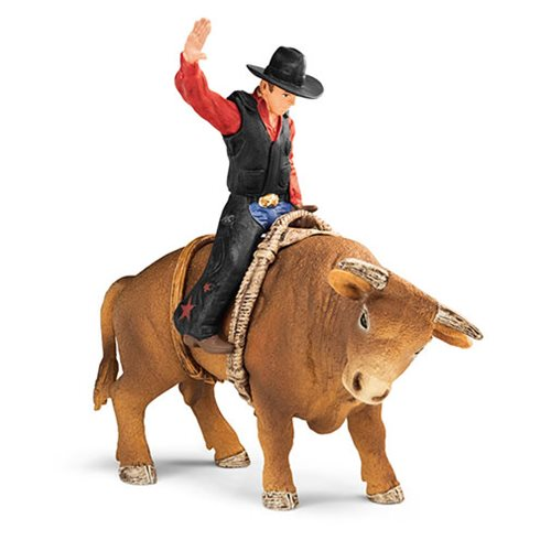 Farm World Cowboy with Bull Set