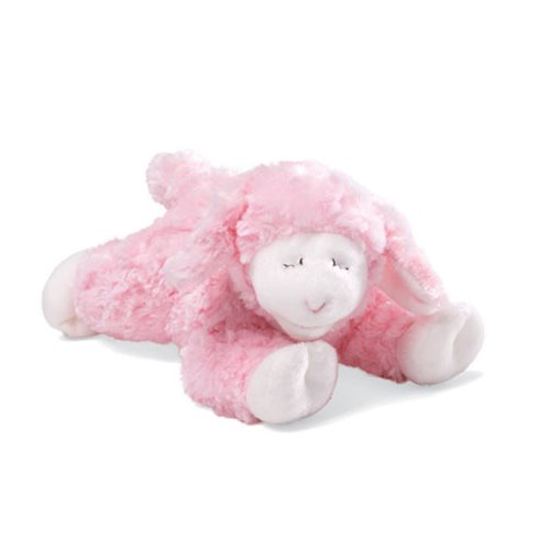 Winky Lamb Rattle Pink 7-Inch Plush