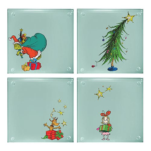 Dr. Seuss Grinchmas Stacking Glass Coaster 4-Pack